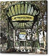 Metropolitain Entrance Paris Acrylic Print