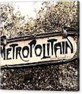Metropolitain Acrylic Print