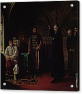 Metropolitan Philip Of Moscow 1507-90 With Tsar Ivan The Terrible 1530-84 Oil On Canvas Acrylic Print