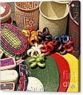 Mexican Basketry Acrylic Print