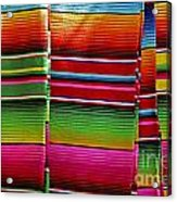 Mexican Blankets Cancun Acrylic Print
