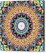 Mexican Ceramic Kaleidoscope Acrylic Print