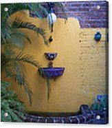 Mexican Courtyard Acrylic Print