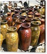 Mexican Pots I Acrylic Print