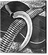 Mexican Revolution Guitar, Sickle Acrylic Print