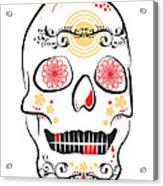 Mexican Sugar Skull For Dia De Los Muertos Acrylic Print