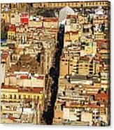 Mexico City Cathedral And Zocalo Acrylic Print by Jess Kraft