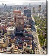 Mexico City Cityscape Acrylic Print by Jess Kraft