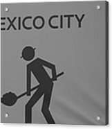 Mexico City In Black And White Acrylic Print