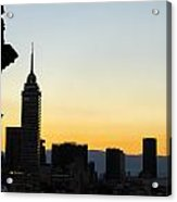 Mexico City Skyline Silhouette Acrylic Print