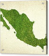 Mexico Grass Map Acrylic Print by Aged Pixel