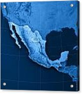 Mexico Topographic Map Acrylic Print by Frank Ramspott