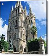 Mexico, View Of Parroquia Church San Acrylic Print by Kyle Rothenborg