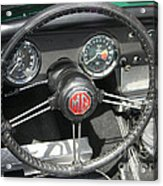 Mg Midget Instrument Panel Acrylic Print