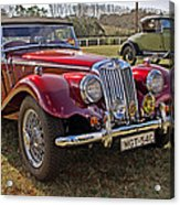 Mg Model Tf 1953 And Ford Model A 1928 Roadsters Acrylic Print