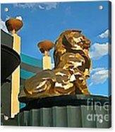 Mgm Lion In Las Vegas Acrylic Print