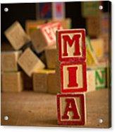Mia - Alphabet Blocks Acrylic Print