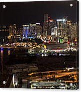 Miami After Dark II Skyline  Acrylic Print