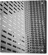 Miami Architecture Detail 2 - Black And White - Square Crop Acrylic Print by Ian Monk