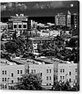 Miami Beach - 0156bw Acrylic Print