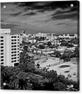 Miami Beach - 0153bw Acrylic Print