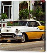 Miami Beach Classic Car Acrylic Print