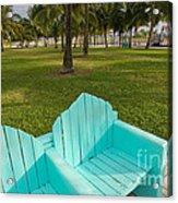 Miami Beach Colors Acrylic Print