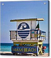 Miami Beach Lifeguard Station Acrylic Print
