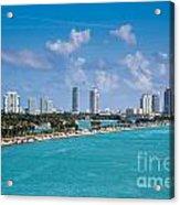 Miami Beach Skyline Acrylic Print