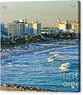 Miami Beach Sunset Acrylic Print