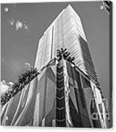 Miami Downtown Buildings - Miami - Florida - Black And White Acrylic Print by Ian Monk