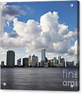 Miami Downtown In Slow Acrylic Print by Eyzen M Kim