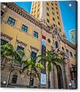 Miami Freedom Tower 1 - Miami - Florida Acrylic Print by Ian Monk