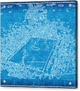 Miami Heat Arena Blueprint Acrylic Print