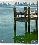 Miami In The Distance Acrylic Print