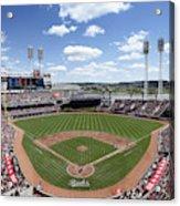 Miami Marlins V Cincinnati Reds Acrylic Print