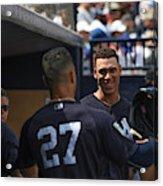 Miami Marlins v New York Yankees Acrylic Print