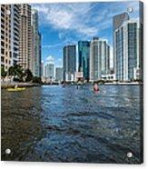 Miami River Kayakers Acrylic Print