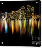 Miami Skyline II High Res Acrylic Print
