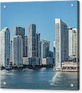 Miami Skyline, Miami-dade County Acrylic Print