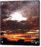 Miami Sunset Acrylic Print by Steven Valkenberg