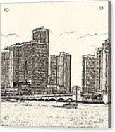Miami - Venetian Causeway Acrylic Print