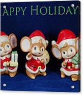 Mice Holiday Acrylic Print