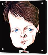 Michael J. Fox Illustration Acrylic Print by Diego Abelenda
