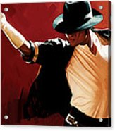 Michael Jackson Artwork 4 Acrylic Print by Sheraz A