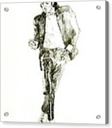 Michael Jackson Billy Jean Acrylic Print by David Lloyd Glover