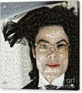 Michael Jackson - Fly Away Hair Mosaic Acrylic Print