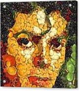 Michael Jackson In The Way Of Arcimboldo Acrylic Print
