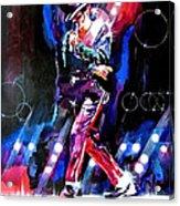 Michael Jackson Moves Acrylic Print