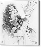 Michael Jackson Passion Sketch Acrylic Print